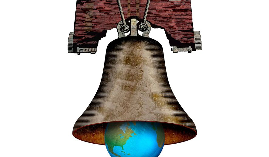 Trade Bell Rings True Illustration by Greg Groesch/The Washington Times