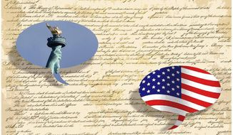 Illustration for Constitution Day by Alexander Hunter/The Washington Times