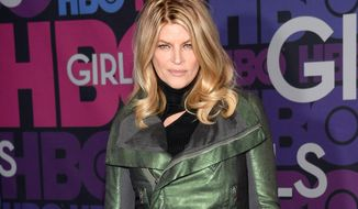"""In this Jan. 5, 2015, file photo, Kirstie Alley attends the premiere of HBO's """"Girls"""" fourth season in New York. (Photo by Evan Agostini/Invision/AP, File)"""