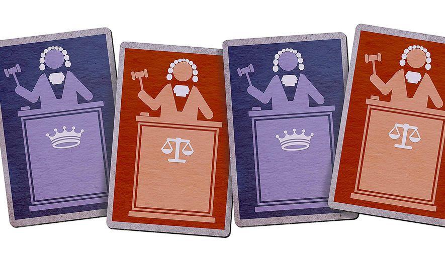 Good Judge Bad Judge Illustration by Greg Groesch/The Washington Times
