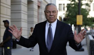 Former Secretary of State Colin Powell is seen in Washington in this Oct. 10, 2008, file photo. (AP Photo/Susan Walsh, File) ** FILE **