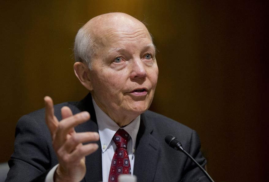 In this Feb. 10, 2016, file photo, Internal Revenue Service (IRS) Commissioner John Koskinen testifies on Capitol Hill in Washington. Conservatives are pushing to force an election-season House vote on impeaching IRS chief John Koskinen, despite misgivings by many Republicans and solid Democratic opposition that means Congress lacks the votes to ultimately remove him from office. (AP Photo/Manuel Balce Ceneta, File)