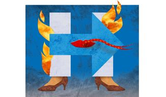Lying Hillary Illustration by Greg Groesch/The Washington Times