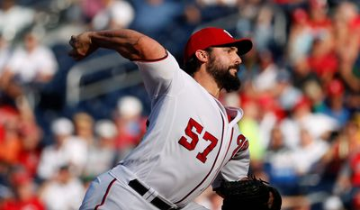 Washington Nationals pitcher Tanner Roark leads the National League in starts of seven innings or more without allowing a run. Roark beat the Mets 1-0 on Wednesday for the third time this season and his ERA against them is 1.27. His 15th win of the season shrunk the Nationals' magic number to seven games. (Associated Press)