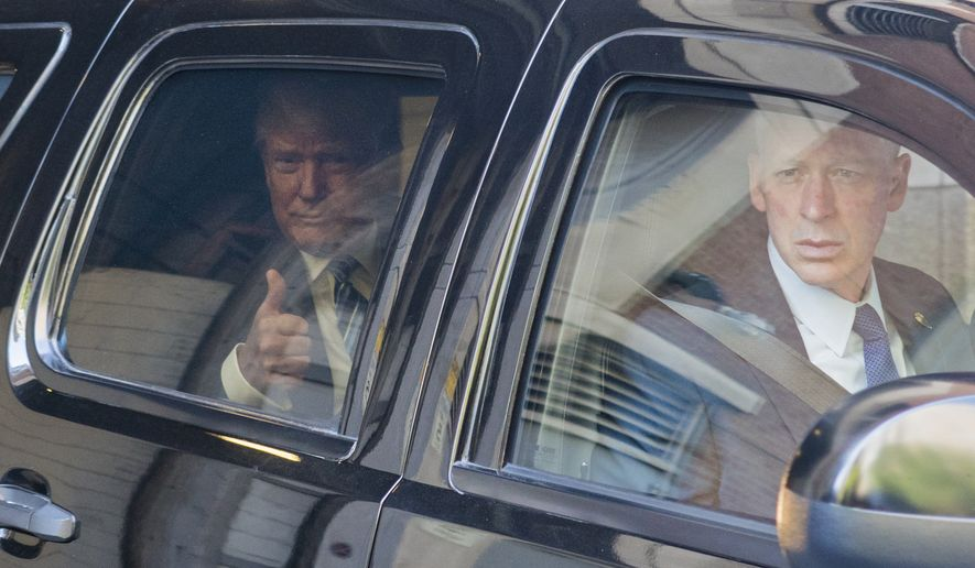 Republican presidential candidate Donald Trump gestures as he leaves an appearance on a television talk show, Wednesday, Sept. 14, 2016, in New York. (AP Photo/Craig Ruttle)