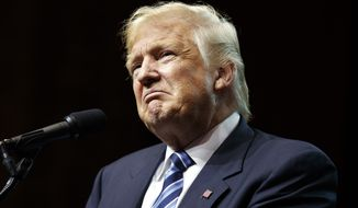 Republican presidential candidate Donald Trump speaks during a rally, Wednesday, Sept. 14, 2016, in Canton, Ohio. (AP Photo/Evan Vucci)
