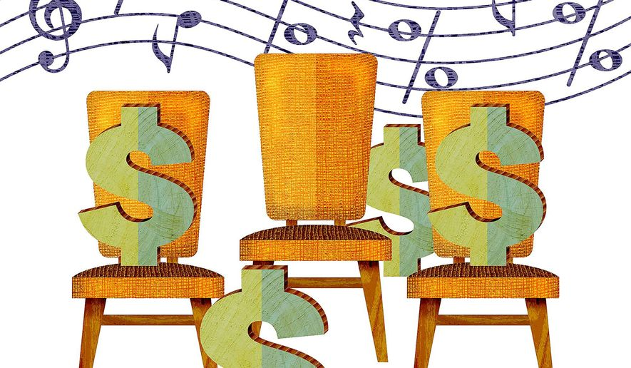Investment Musical Chairs Illustration by Greg Groesch/The Washington Times