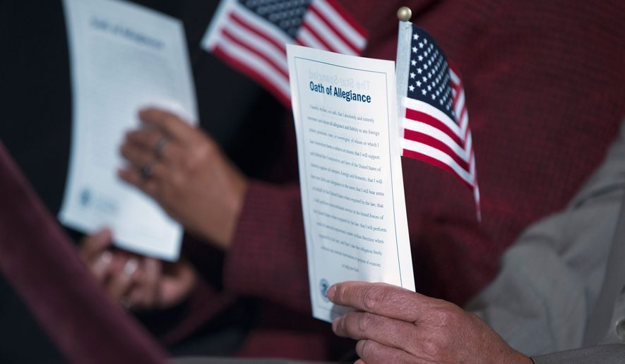 Tens of thousands are applying for U.S. citizenship in a presidential election year when immigration has taken center stage. Hispanic advocates offended by Republican Donald Trump have tried to sign up voters. (Associated Press)