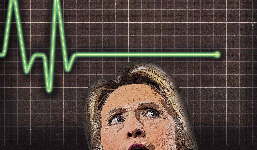 Hillary's Economic Flatline Illustration by Greg Groesch/The Washington Times