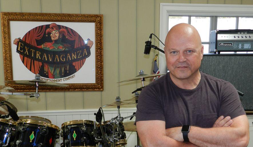 Michael Chiklis in his home studio.  (Dave Kapp)