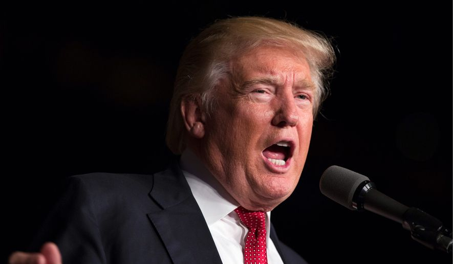 Republican presidential candidate Donald Trump speaks during a campaign rally at Germain Arena, Monday, Sept. 19, 2016, in Ft. Myers, Fla. (AP Photo/ Evan Vucci)