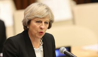 British Prime Minister Theresa May faces an early test of her leadership skills Tuesday when she addresses the U.N. General Assembly. (Associated Press)