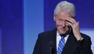 Former U.S. President Bill Clinton speaks at the Clinton Global Initiative, Monday, Sept. 19, 2016, in New York. (AP Photo/Mark Lennihan) ** FILE **