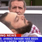 WABC-TV footage showed a man believed to be 28-year-old Ahmad Khan Rahami being loaded into an ambulance on a stretcher in Linden, New Jersey.