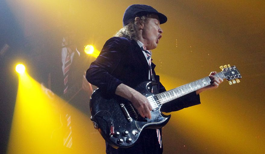 AC/DC's Angus Young performs at the Verizon Center in Washington, D.C. on September 17, 2016. (Photograph by Joseph Szadkowski/The Washington Times)