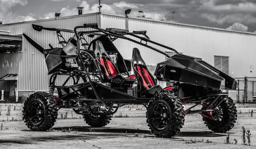 The U.S. military may award a contract to an American entrepreneur who invented a flying all-terrain vehicle.(Skyrunner)