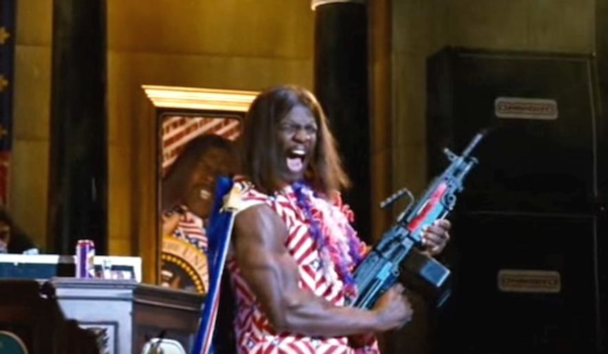 "Terry Crews starred as President Camacho in 2006's cult classic ""Idiocracy."" (Twentieth Century Fox Film Corporation, 'Idiocracy' trailer)"