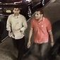The image released by the FBI shows two men walking along West 27th Street between 6th Avenue and 7th Avenue between 8 and 9 p.m. Saturday. (Source: FBI)