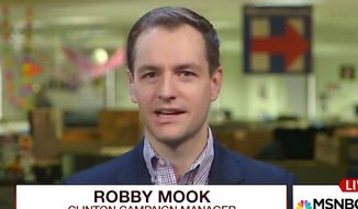 Hillary Clinton's campaign manager, Robby Mook, struggled through an MSNBC interview on Morning Joe on Wednesday, Sept. 21, 2016. (MSNBC screenshot)