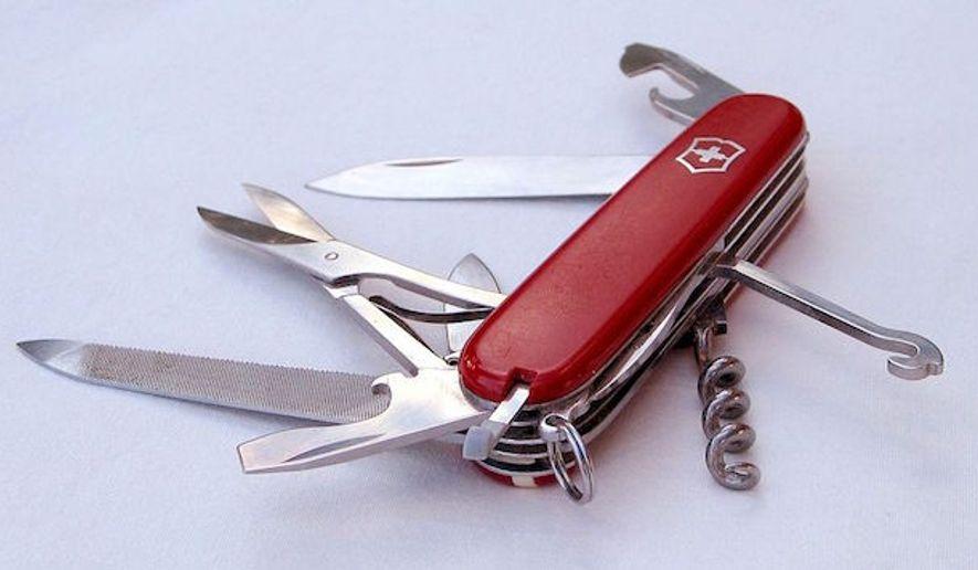 A Victorinox Swiss Army knife. (Wikipedia)