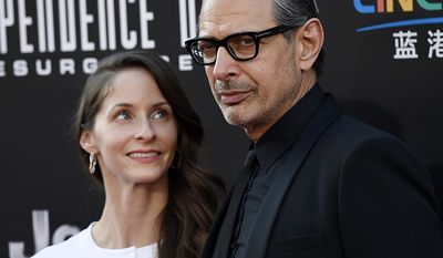 Actor Jeff Goldblum is a full 30 years older than his wife Emilie Livingston (AP Photo)