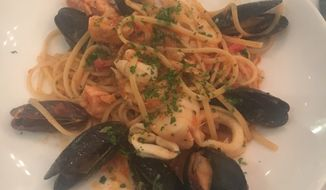 The seafood linguini special at Aperto.  (Eric Althoff)
