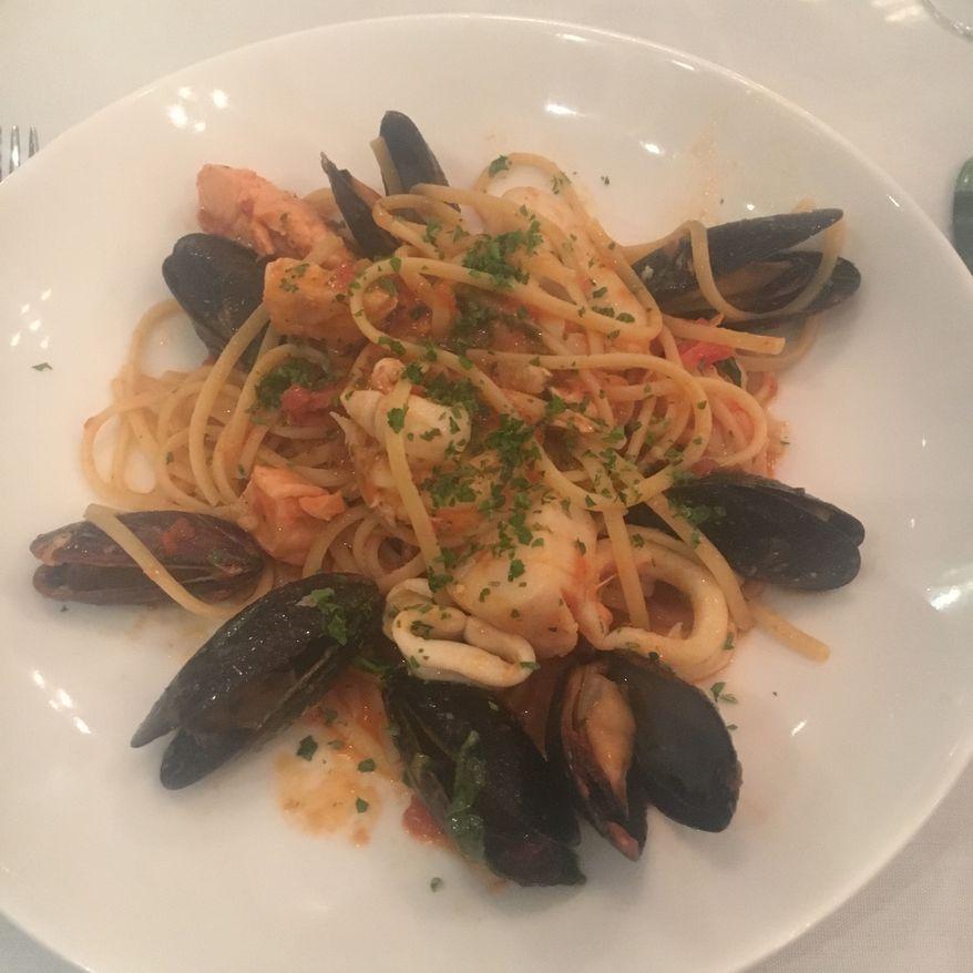 The seafood linguini special at Aperto.  (Eric Althoff)