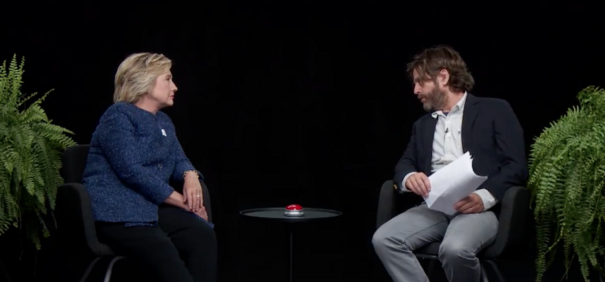 Hillary Clinton's 'Between Two Ferns' interview.