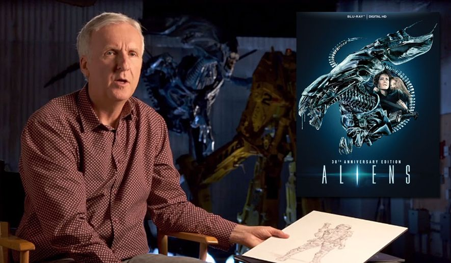 "Director James Cameron discusses the design of ""Aliens"" in a streaming featurette for ""Aliens: 30th Anniversary Edition,"" now available on Blu-ray from 20th Century Fox Home Entertainment."