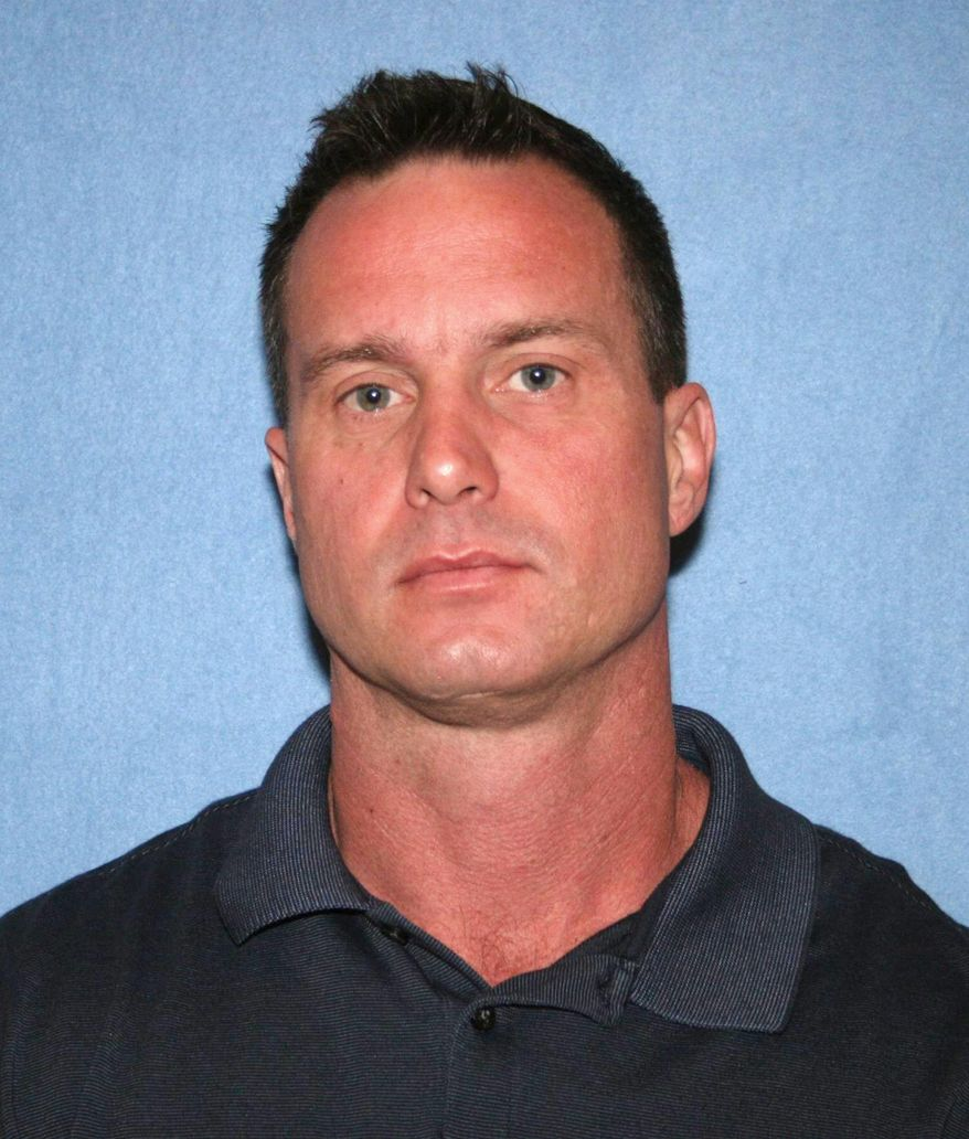 This undated photo provided by the Phoenix Police Department shows Officer Jason E. McFadden. McFadden is one of three Phoenix police officers who have resigned after a man alleged they forced him to eat marijuana found in his vehicle to avoid going to jail, Chief Joseph Yahner said Thursday, Sept. 22, 2016. A fourth officer was demoted for being aware of last week's incident and not taking appropriate action, Yahner told reporters. (Phoenix Police Department via AP)
