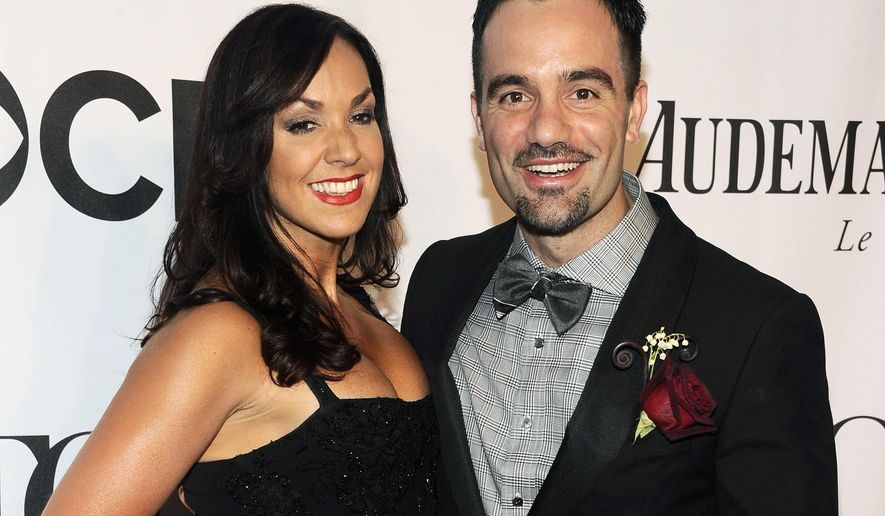 "FILE - In this June 8, 2014 file photo, Ramin Karimloo, right, and Amanda Karimloo arrive at the 68th annual Tony Awards in New York. Ramin Karimloo will star in the musical stage adaptation of the 1997 animated musical film ""Anastasia,"" on Broadway. (Photo by Charles Sykes/Invision/AP, File)"