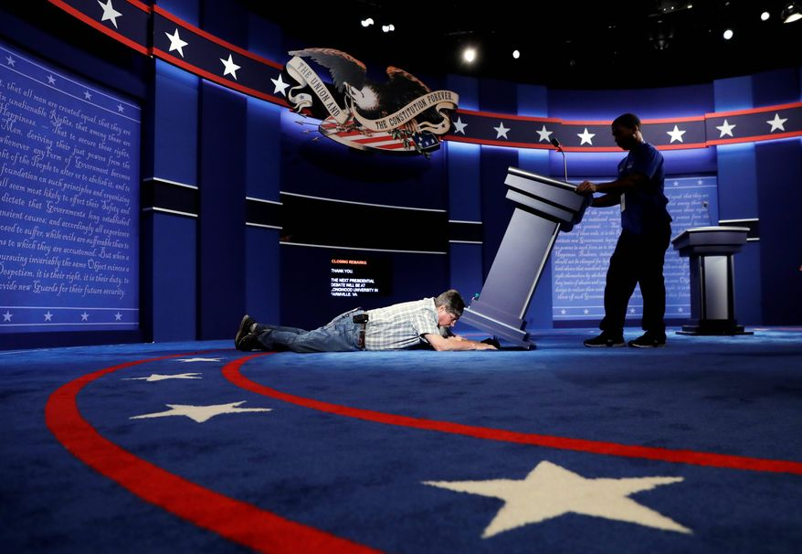 The 90-minute debate between Hillary Clinton and Donald Trump could attract as many as 100 million viewers, but the real prize will be the tens of millions of undecided voters. (Associated Press)