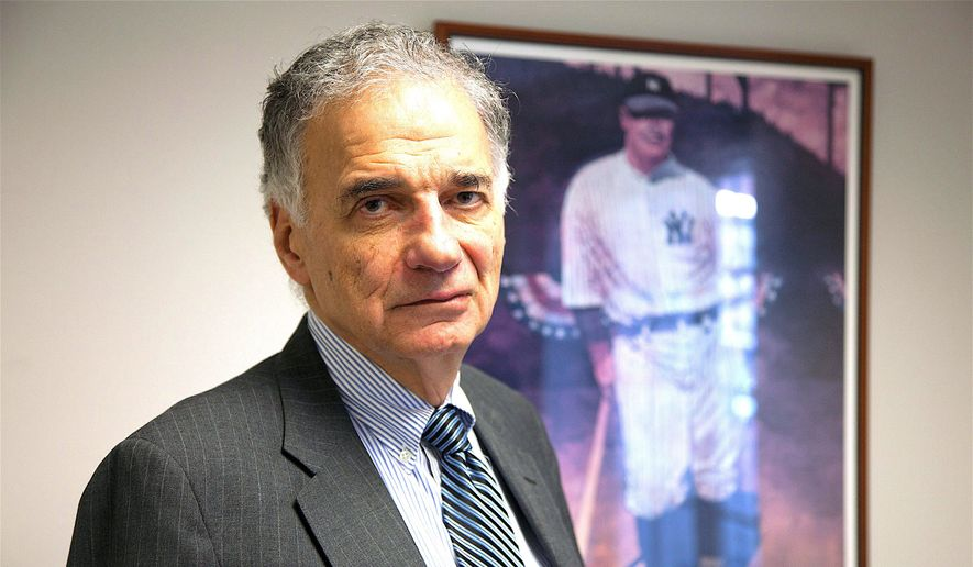 """Ralph Nader is the driving force behind """"Breaking Through Power,"""" a four-day summit that begins Monday in the nation's capital. (Associated Press)"""