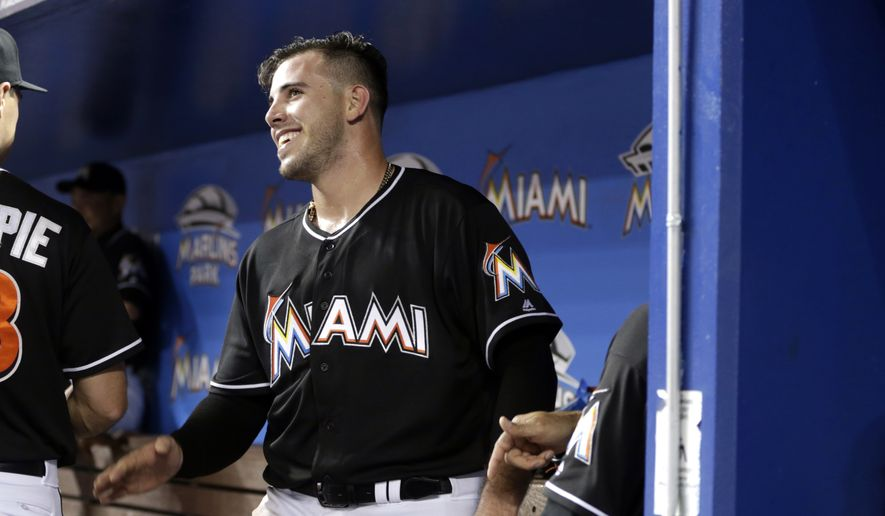 Miami Marlins starting pitcher Jose Fernandez walks in the dugout before a baseball game against the New York Mets, Saturday, July 23, 2016, in Miami. The Marlins defeated the Mets 7-2. (AP Photo/Lynne Sladky) **FILE**
