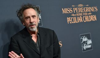 "Director Tim Burton attends ""Miss Peregrine's Home for Peculiar Children"" red carpet event at Saks 5th Avenue on Monday, Sept. 26, 2016, in New York. (Photo by Evan Agostini/Invision/AP)"