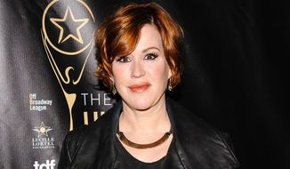 In this May 1, 2016 file photo, Molly Ringwald attends The 2016 Lucille Lortel Awards for Outstanding Achievement Off-Broadway in New York. (Photo by Christopher Smith/Invision/AP, File)