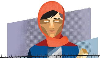 Illustration on which immigrants should be allowed to enter the United States by Linas Garsys/The Washington Times