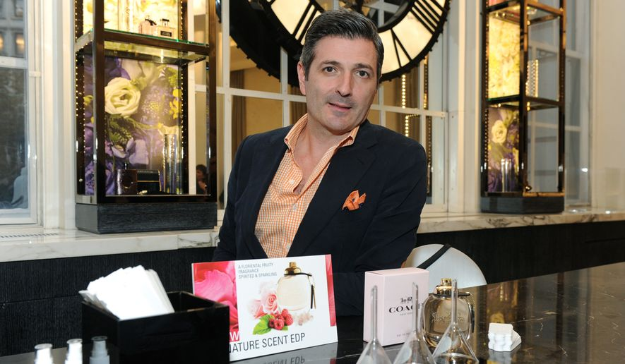 Perfumer Laurent Le Guernec, of International Flavors & Fragrances Inc., discusses his new scents for fall at the Macy's Scent Event at Herald Square, Monday, Sept. 26, 2016, in New York. (Diane Bondareff/AP Images for Macy's) ** FILE **
