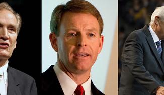 Christian leaders: Adrian Rogers, Tony Perkins, and David Jeremiah.