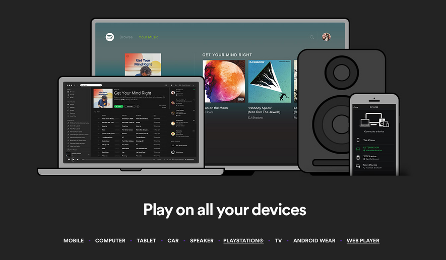 Screen capture from Spotify.com, taken Sept. 27, 2016. Spotify announced a new Daily Mix playlist which users of the music streaming service will be able to enjoy, starting Sept. 27, 2016.