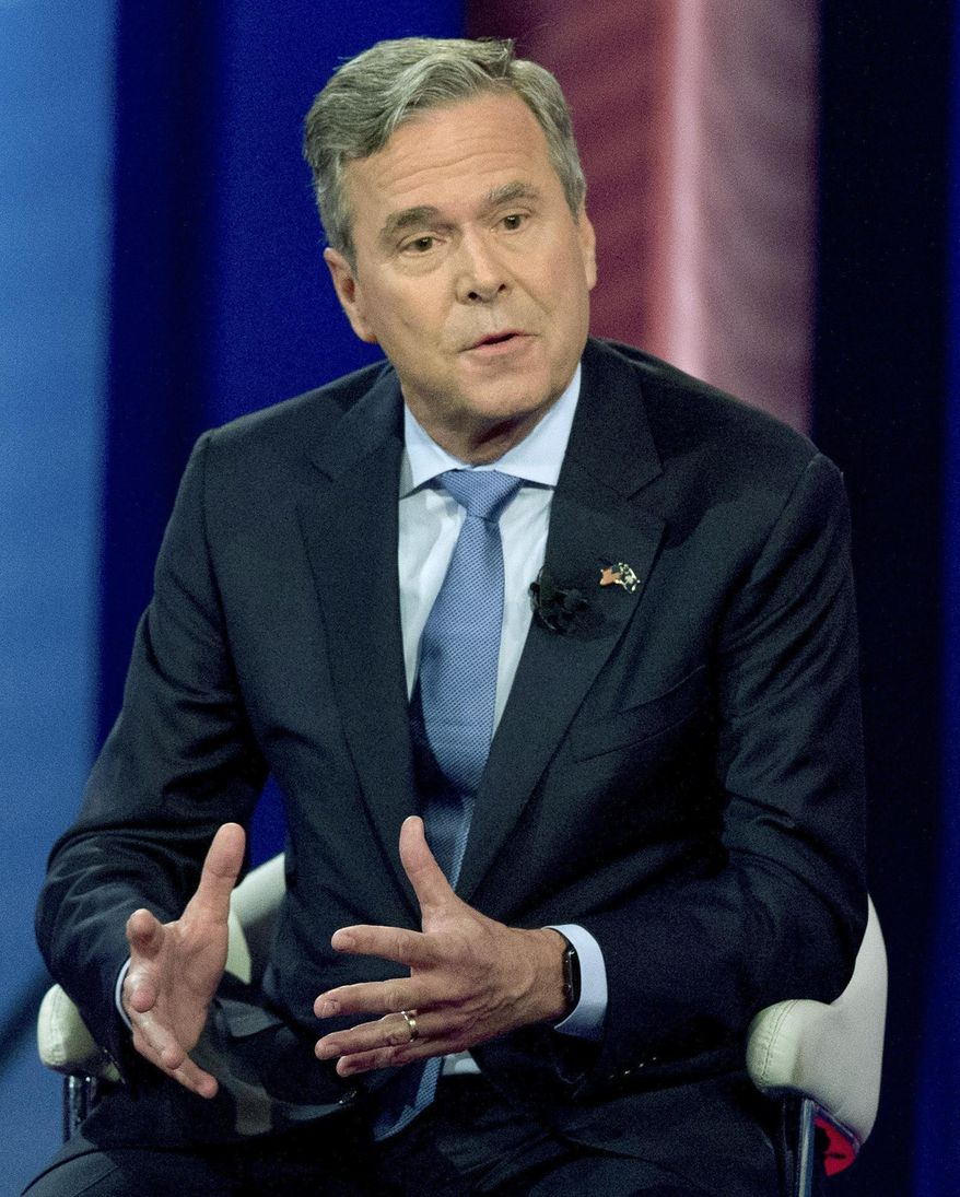 FILE - In this Feb. 18, 2016, file photo, former Florida Gov. Jeb Bush speaks at a town hall meeting at the University of South Carolina in Columbia, S.C., while pursuing the Republican presidential nomination. Harvard's Kennedy School announced Tuesday, Sept. 27, 2016, that Bush will be a visiting fellow in the Program on Education Policy and Governance for the fall 2016 term at the university in Cambridge, Mass. (AP Photo/Andrew Harnik, File)