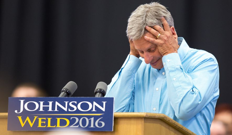 """Libertarian presidential candidate Gary Johnson repeatedly blanked when asked by MSNBC host Chris Matthews """"who's your favorite foreign leader?"""" (Associated Press)"""