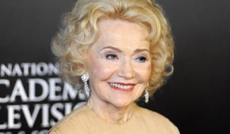 """FILE - In this June 27, 2010 file photo, Agnes Nixon arrives at the 37th Annual Daytime Emmy Awards in Las Vegas. Nixon, the creative force behind the popular soap operas """"One Life to Live"""" and """"All My Children,"""" died Wednesday, Sept. 28, 2016, in Haverford, Pa.  She was 93. (AP Photo/Chris Pizzello, File)"""