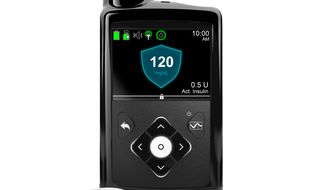 "This image provided by Medtronic shows its MiniMed 670G system. Federal regulators have approved a first-of-a-kind ""artificial pancreas,"" a device that can help some diabetes patients manage their disease by constantly monitoring their blood sugar and delivering insulin as needed. The device from Medtronic was approved Wednesday, Sept. 28, 2016, for patients with Type 1 diabetes, the kind usually diagnosed during childhood. (Medtronic via AP)"
