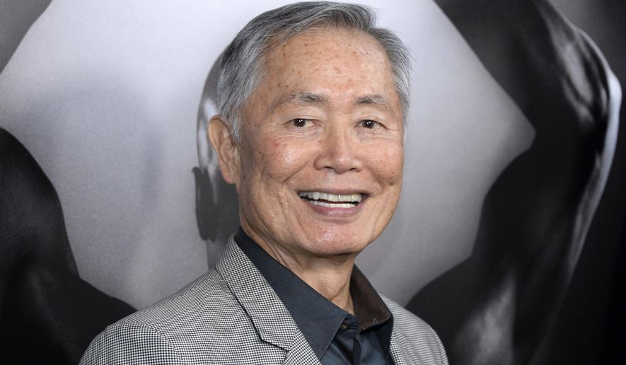 "In this March 15, 2016 file photo, actor George Takei attends the premiere of ""Mapplethorpe: Look at the Pictures"" in Los Angeles, Calif. (Photo by Phil McCarten/Invision/AP, File)"