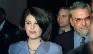 Monica Lewinsky was a White House intern with whom Bill Clinton had an Oval Office affair, the fact of which he lied about under oath. He was impeached as a result. (Associated Press) ** FILE **