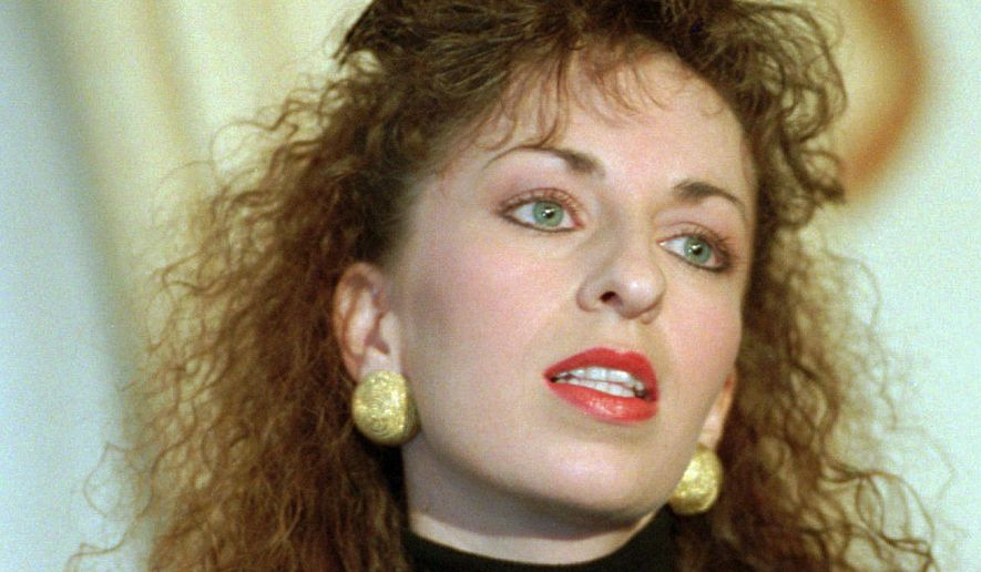 Paula Jones, as seen in 1994  when she alleged sexual harassment by then-Arkansas Gov. Bill Clinton.  (AP file image)