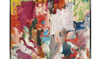 """In this undated photo provided by Christie's, """"Untitled XXV,"""" a 1977 painting by Willem de Kooning is shown. The large painting from one of de Kooning's most productive periods is going on the auction block at Christie's in New York on Tuesday, Nov. 15, 2016. (Christie's via AP)"""