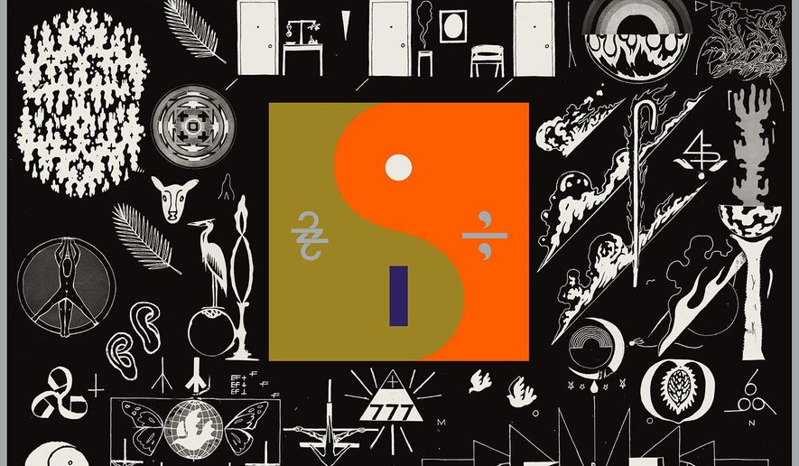 "This cover image released by Jagjaguwar Records shows, ""22, A Million,"" a release by Bon Iver. (Jagjaguwar via AP)"
