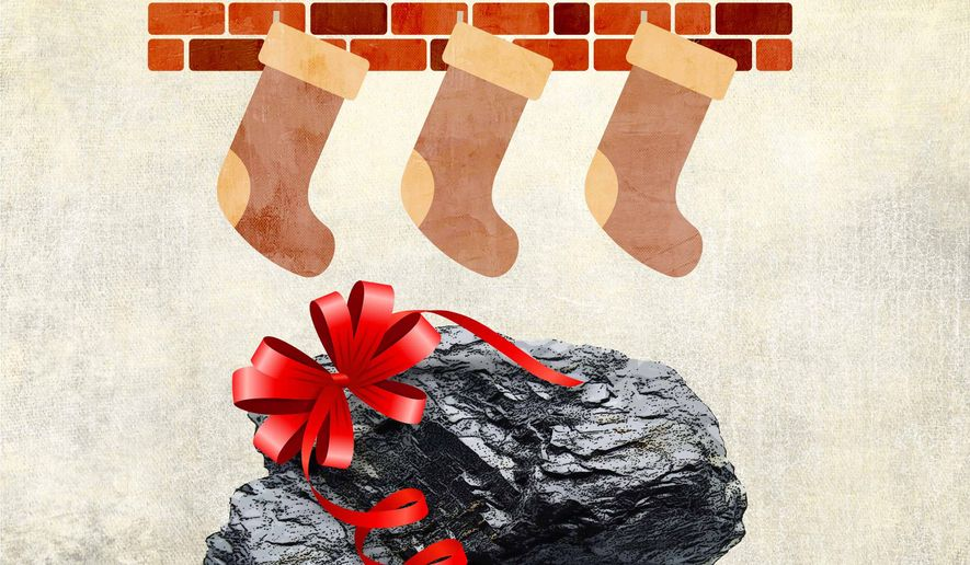 Lump of Coal Illustration by Greg Groesch/The Washington Times